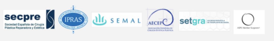 Logotipos de web médica acreditada, secpre, ipras, semal, aecep y setgra